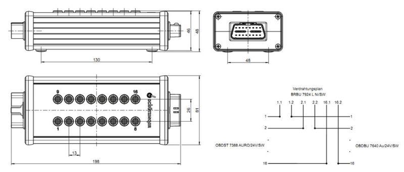 Schützinger OBD Breakout-Box für den Automotive-Bereich ...